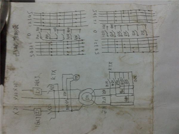 这是双梁行车调速的接线图