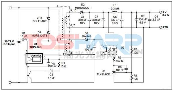 开关电源用光耦 开关电源是利用现代电力电子技术,控制开关管开通和关断的时间比率,维持稳定输出电压的一种电源,开关电源以小型、轻量和高效率的特点被广泛应用几乎所有的电子设备。在开关电源的稳压一般是采用负反馈,通过对输出电压进行采样比较,来调节开关管的占空比来达到稳压的目的。 电源的输入端一般为高压,输出端一般为低压,为了保证安全,建议将输出端的反馈信号通过线性光耦进行隔离耦合至输入端对脉宽进行调制。常见可用于开关电源中的线性晶体管输出光耦有:TLP785,TLP185,TLP291,PC817,PS2801