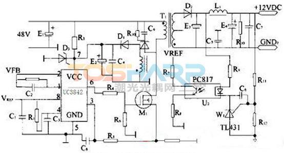 脉宽调制控制器 开关电源应用 uc3842