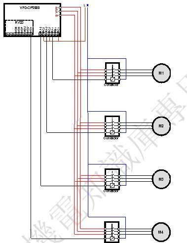 图5以4台电机为例定时循环控制