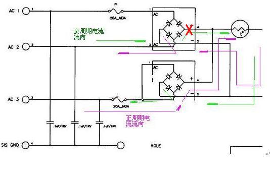 220v单相交流电怎么接入下面的电路