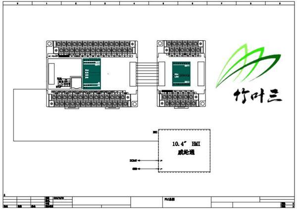 控制点数,选择了海为plc,主机s20m2r,扩展输出模块h16dor部分电路图如