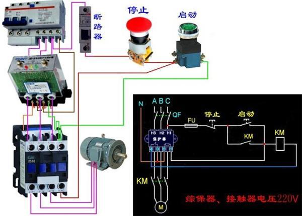 电机用变频器实物接线图-变频器与电机接线图