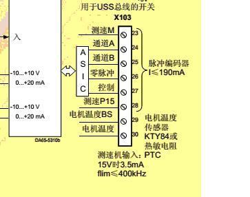 西门子变频器逆变端x103与编码器的连接问题-专业