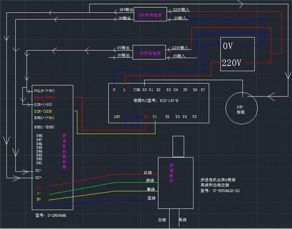 plc控制电机星角变换程序案例