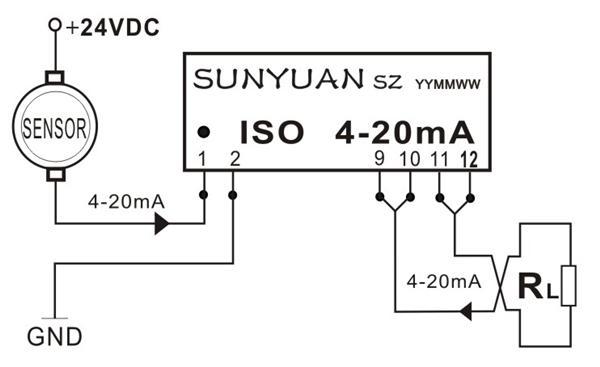 两线制无源型4-20ma信号隔离器应用图-专业自动化