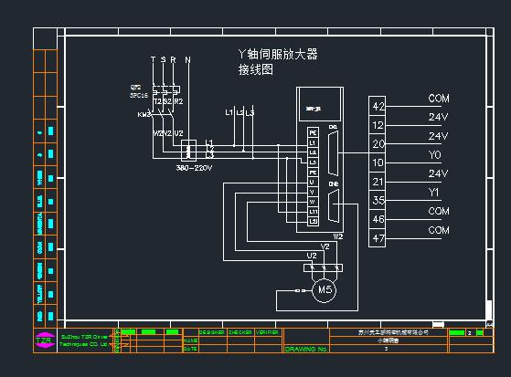 三菱伺服放大器接线