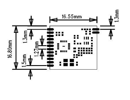 si4432无线模块(433m,远距离,1800米,小体积,穿墙王)