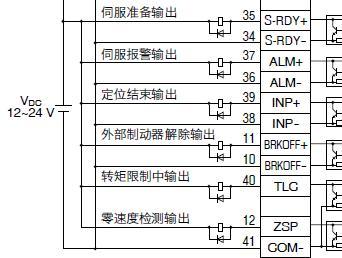 三菱PLC控制松下伺服X4接线