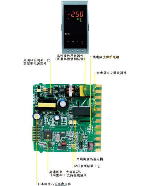 三台智能仪表modbus硬件接线图