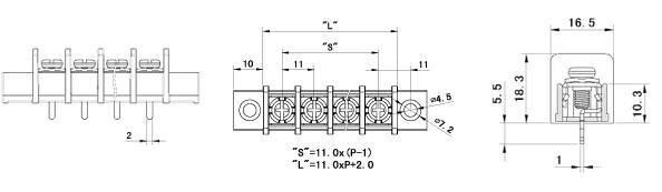 lw1mc-11.00栅栏式接线端子