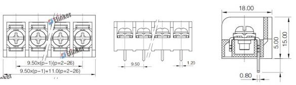 lw3b-9.52栅栏式接线端子
