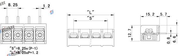 lw3r-6.35栅栏式接线端子