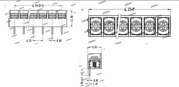 lw3pa-6.35栅栏式接线端子