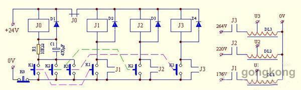 奈何用继电器达成2种分别□的电压转换-继电器