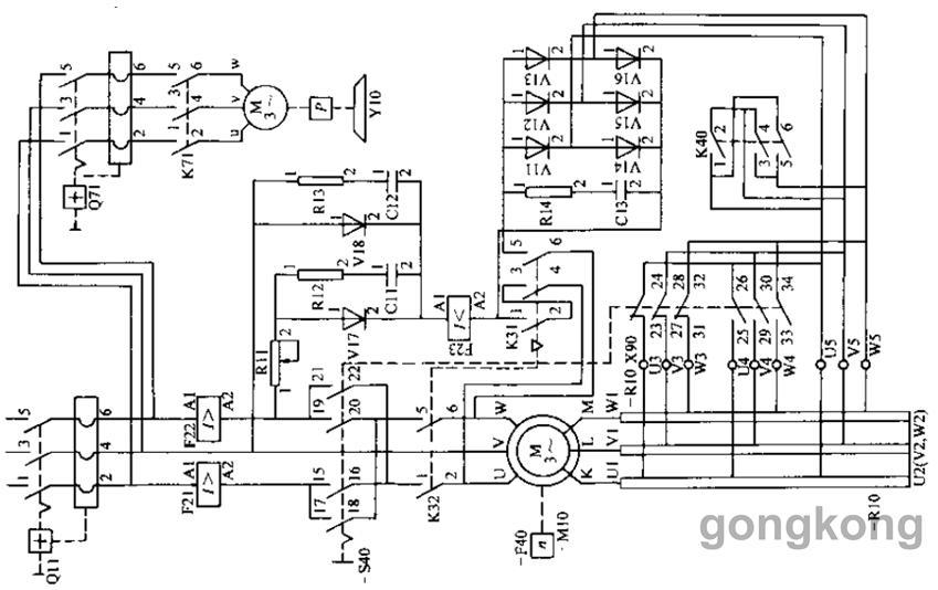 直接式自励制动调速主电路