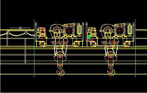 5+5T双小车桥式起重机的联动v小车-桥式起重机展示柜红酒图纸尺寸图片