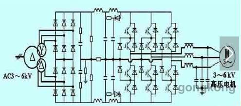 16kv,电机三角形接法为3.3kv,变频器输出必降压设定为 3.3kv.