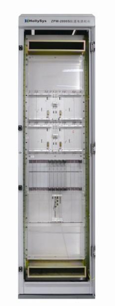 这种轨道电路利用并联在钢轨两端的lc谐振槽路和一小段钢轨电感构成的