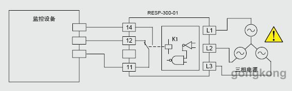 产品工作原理与作用: 1.相序监控继电器主要用于相序和缺相的监控保护。 2.当相序监测正常时,继电器动作吸合;三相线路正常运行。 3.当相序和缺相监测不正常时,如,三相线路中任何一个相位缺相时,继电器动作释放,三相线路进入保护状态。 4.防止设备(如,电动机)的错误反向运动。 5.