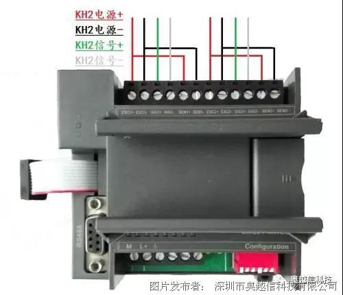 1,现场称重传感器与模块接线图如下(实物拍摄)