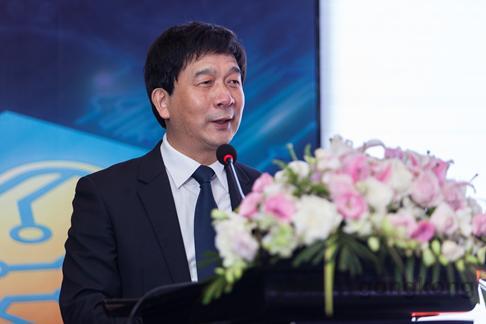 国家集成电路产业投资基金总经理,中国高端芯片联盟理事长丁文武现场