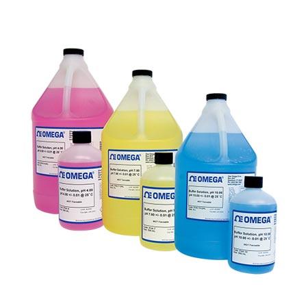 Omega PHA-4系列预混合pH值校准液和去离子水