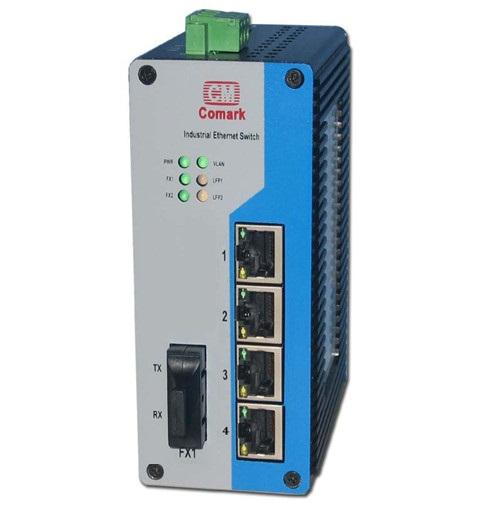 深圳讯记 5口百兆工业光纤交换机