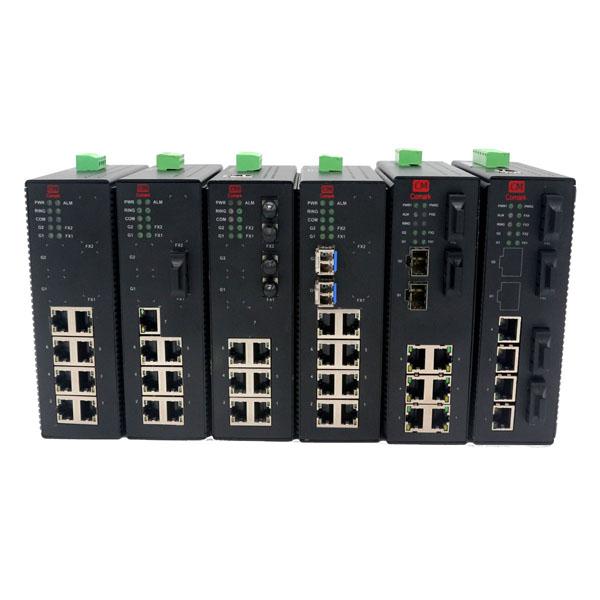 深圳讯记CK7080型千兆网管型工业交换机