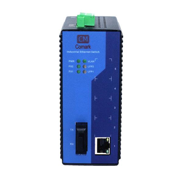 深圳讯记CK2011系列1电1光百兆工业光纤收发器