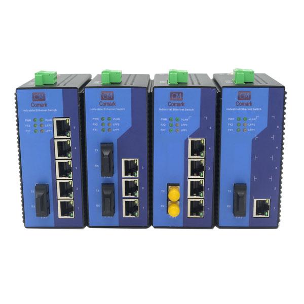 深圳訊記CK2011系列1電1光百兆工業光纖收發器