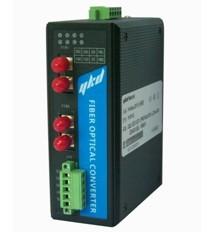 易控达RS485光纤链路模块(环网冗余)/光端机