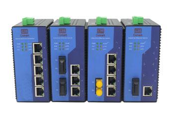 訊記科技5口百兆配置型工業以太網交換機