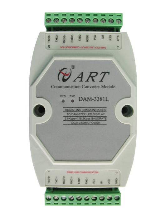 阿尔泰DAM3381L三菱LINK从站协议与主站协议转换模块