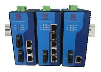 讯记科技5口百兆交换机可靠的双冗余电源
