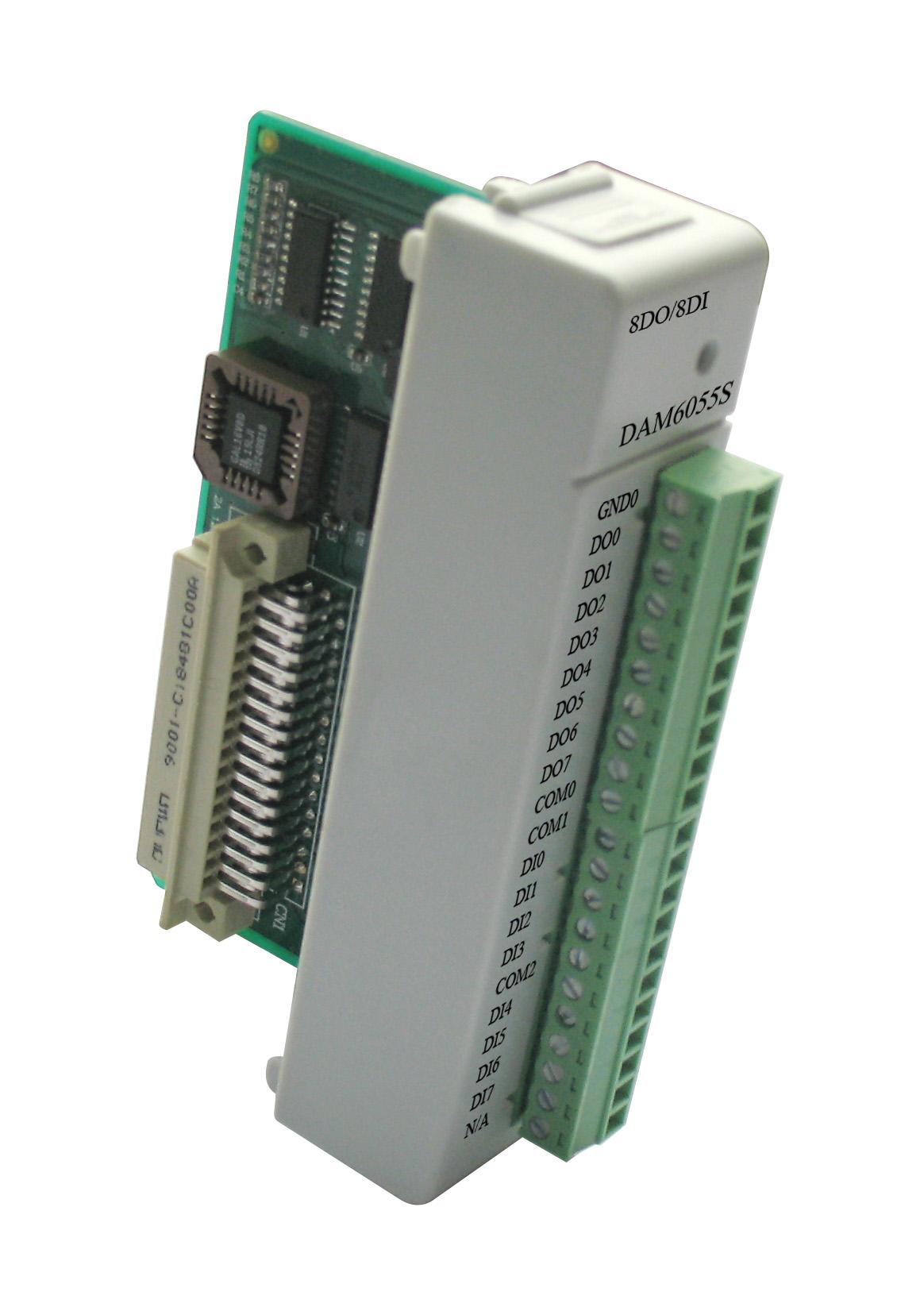 阿尔泰DAM6055S-带LED显示的16路隔离数字量I/O