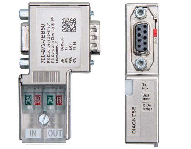 德国Helmholz 带诊断显示的PROFIBUS总线连接器
