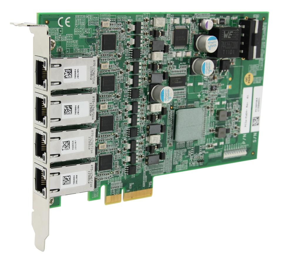 上海宸曜PCIe-PoE4+ 4口PoE网卡