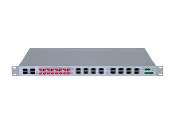 深圳讯记4GE+24FE电力专用工业以太网交换机