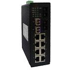 讯记 10口网管型工业以太网交换机