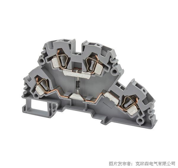 克林森 YBK系列多层弹簧夹直通端子YBK 4-2FD