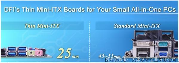 罗升DFI 超薄Mini-ITX嵌入式主板