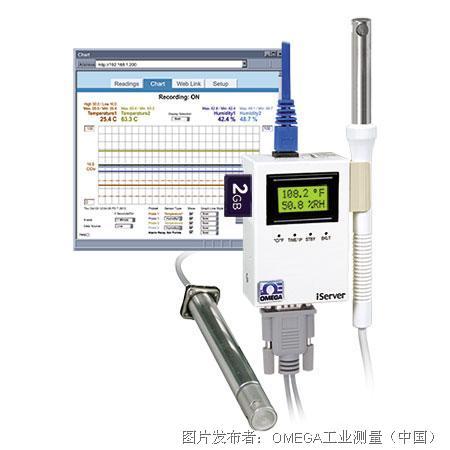 OMEGA HX系列温度和湿度虚拟图表记录仪