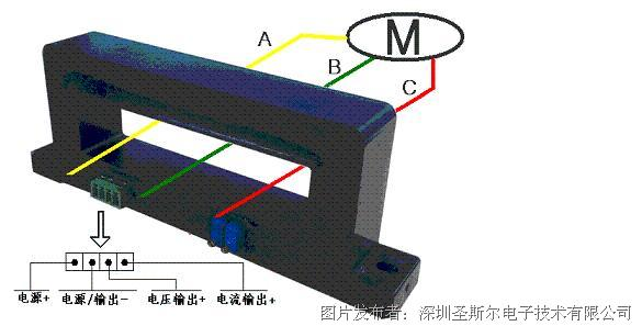 圣斯尔 CE-IJ03-54B10-0.5零序电流隔离变送器