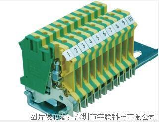 台湾进联(DECA)接地型接线座系列CPE4N、CPE4/3N平方导轨端子