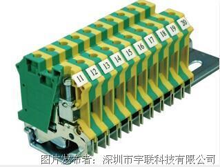 台湾进联(DECA)接地型接线座系列CPE6N平方导轨端子