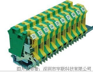 台湾进联(DECA)接地型接线座系列CPE10N/16N平方导轨端子