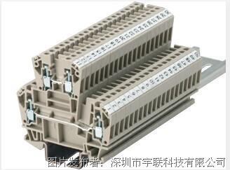 台湾进联(DECA)双层型接线座系列CDK2.5平方导轨端子