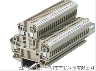 台湾进联(DECA)双层型接线座系列CDK4V/6V平方导轨端子