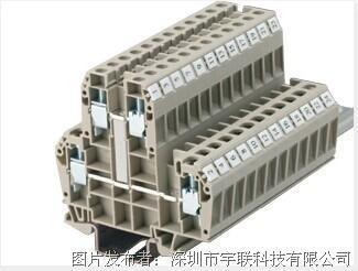 台湾进联(DECA)双层型接线座系列CDK10V平方导轨端子